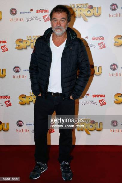 Actor Olivier Marchal attends the 'Le Petit Spirou' Paris Premiere at Le Grand Rex on September 10 2017 in Paris France