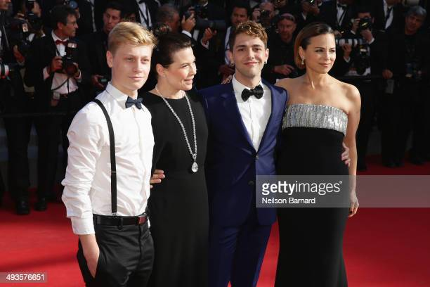 Actor Olivier Pilon Anne Dorval director Xavier Dolan and Suzanne Clement attend the Closing Ceremony and 'A Fistful of Dollars' screening during the...