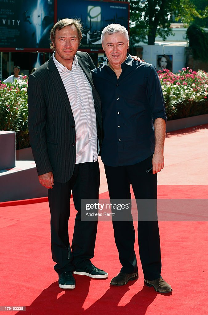 Actor Olivier Rabourdin and director Robin Campillo attend the 'Eastern Boys' Premiere during the 70th Venice International Film Festival at Sala Darsena on September 4, 2013 in Venice, Italy.