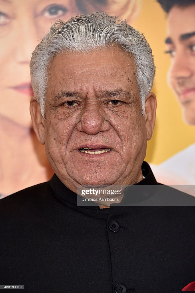 Actor <a gi-track='captionPersonalityLinkClicked' href=/galleries/search?phrase=Om+Puri&family=editorial&specificpeople=1651238 ng-click='$event.stopPropagation()'>Om Puri</a> attends the 'The Hundred-Foot Journey' New York premiere at Ziegfeld Theater on August 4, 2014 in New York City.