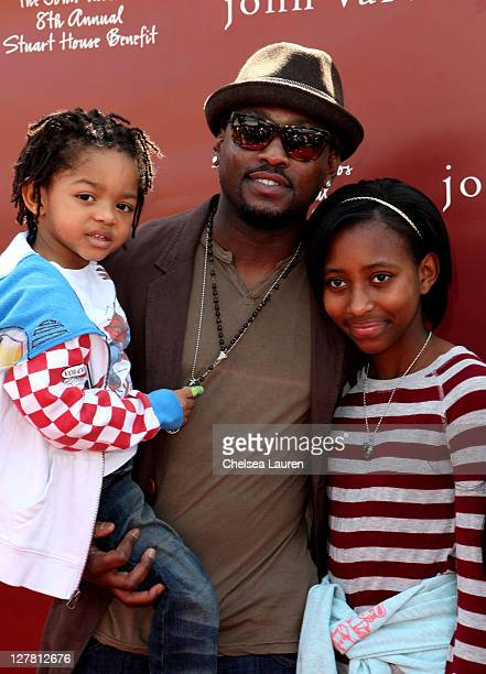 Actor Omar Epps and family attend John Varvatos 8th Annual Stuart House Benefit featuring KD Lang at John Varvatos Los Angeles on March 13 2011 in...