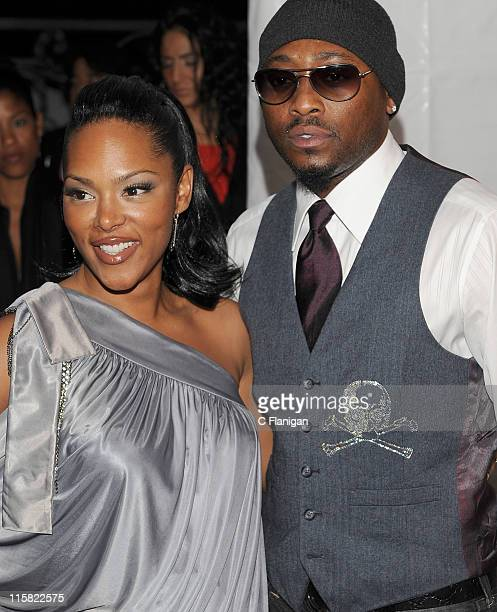 Actor Omar Epps and wife Keisha attend GlobalGrindcom Presents Russell Simmons Salute to Grammy Nominees at a private residence on February 8 2009 in...