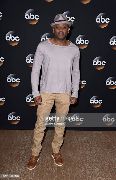 Actor Omar Epps attends the Disney/ABC Television Group 2014 Television Critics Association Summer Press Tour at The Beverly Hilton Hotel on July 15...