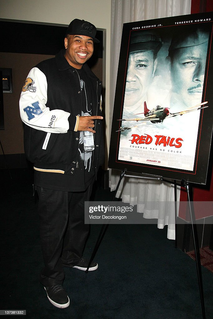 Actor Omar Gooding arrives for the screening of 'Red Tails' at ArcLight Cinemas on January 19 2012 in Hollywood California