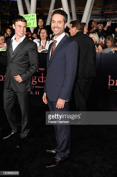 Actor Omar Metwally arrives at Summit Entertainment's 'The Twilight Saga Breaking Dawn Part 1' premiere at Nokia Theatre LA Live on November 14 2011...
