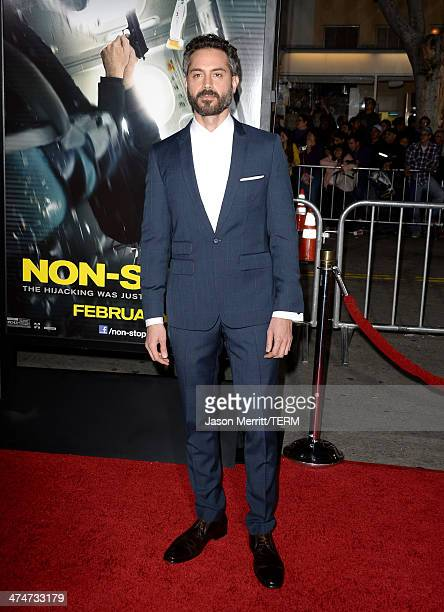 Actor Omar Metwally attends the premiere of Universal Pictures and Studiocanal's 'NonStop' at Regency Village Theatre on February 24 2014 in Westwood...