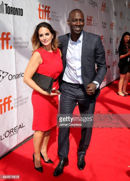 Actor Omar Sy and Helene Sy attend the 'Samba' premiere during the 2014 Toronto International Film Festival at Roy Thomson Hall on September 7 2014...