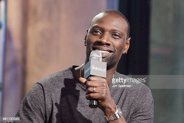 Actor Omar Sy attends the AOL BUILD Speaker Series 'Samba' at AOL Studios In New York on July 17 2015 in New York City