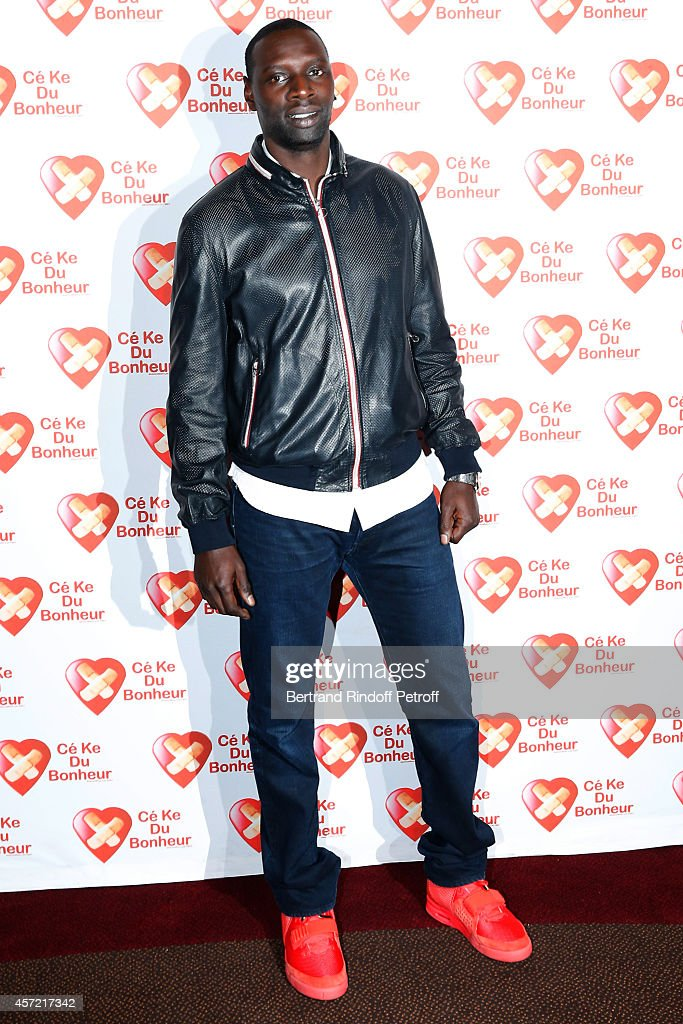 Actor Omar Sy attends the Samba Premiere to Benefit 'CekeDuBonheur' which celebrates its 10th anniversary. Held at Cinema Gaumont Champs Elysees on October 14, 2014 in Paris, France.