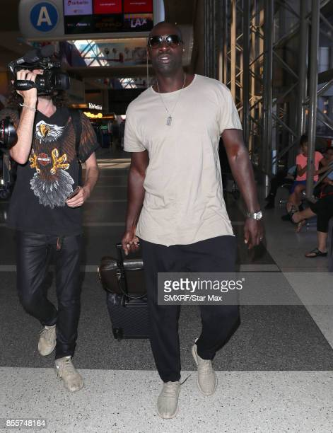 Actor Omar Sy is seen at Los Angeles International Airport on September 29 2017 in Los Angeles California