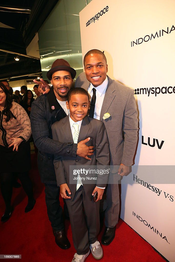 Actor Omari Hardwick, actor Michael Rainey Jr., and Director Sheldon Candis attend the Los Angeles premiere screening of 'LUV' at Pacific Design Center on January 10, 2013 in West Hollywood, California.