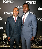 Actor Omari Hardwick and executive producer Curtis '50 Cent' Jackson attend the 'Power' premiere at Highline Ballroom on June 2 2014 in New York City