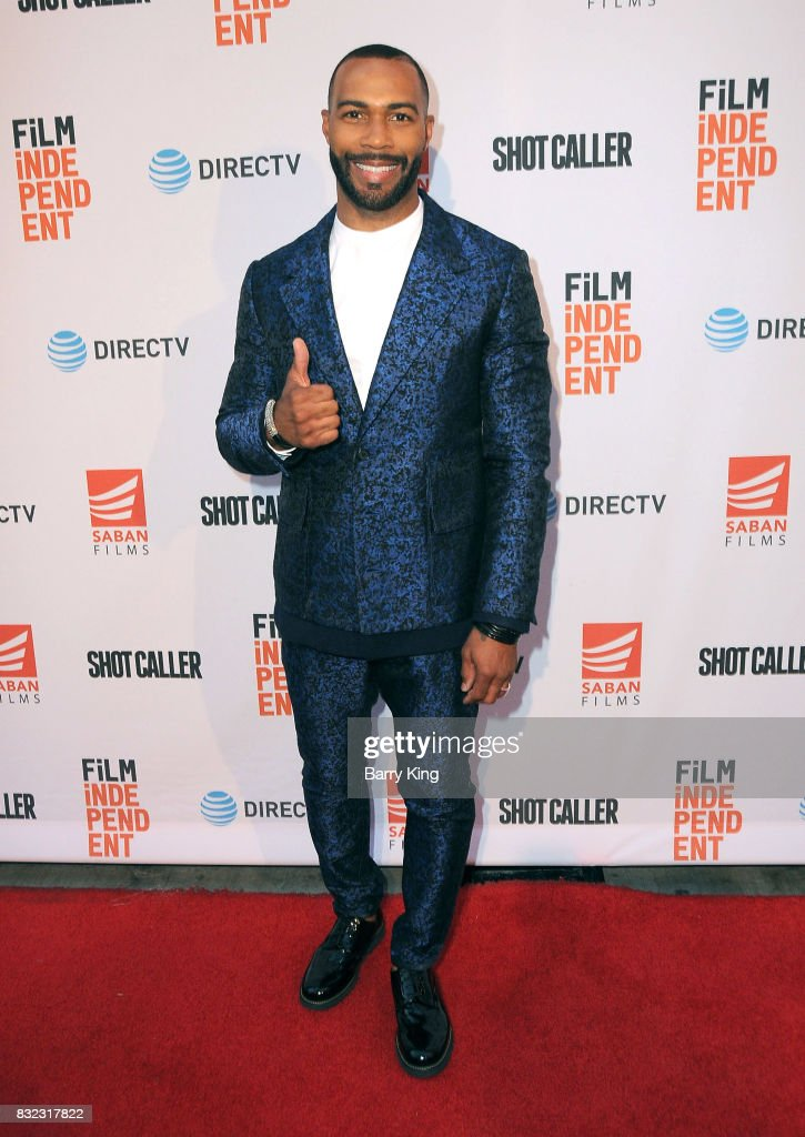 Actor Omari Hardwick attends screening of Saban Films and DIRECTV's' 'Shot Caller' at The Theatre at Ace Hotel on August 15, 2017 in Los Angeles, California.