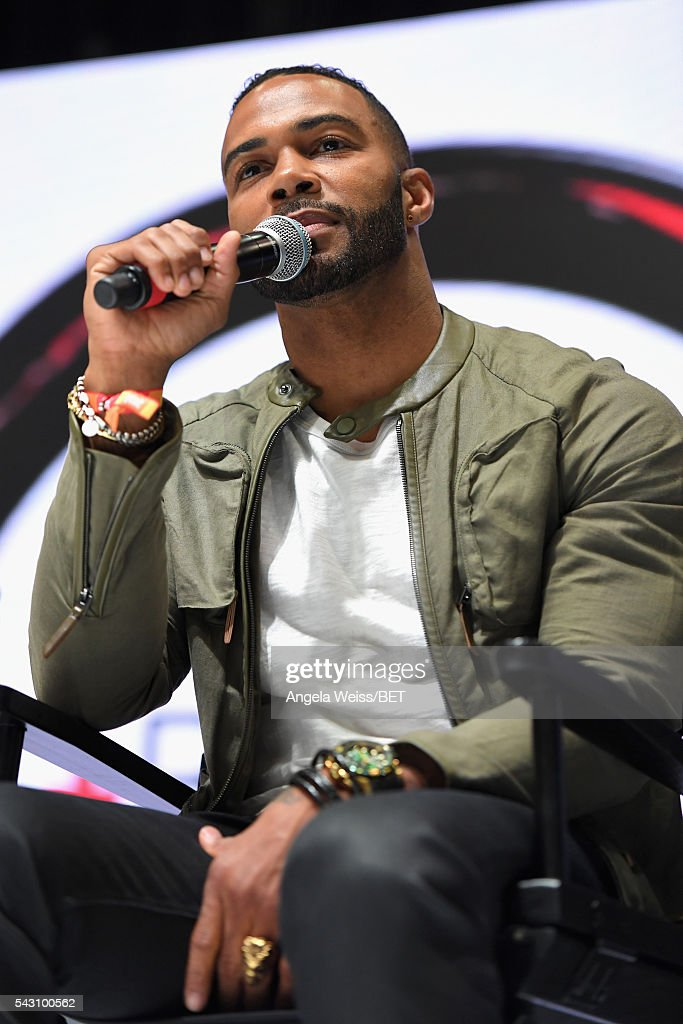Actor <a gi-track='captionPersonalityLinkClicked' href=/galleries/search?phrase=Omari+Hardwick&family=editorial&specificpeople=4342711 ng-click='$event.stopPropagation()'>Omari Hardwick</a> attends the Fashion & Beauty TOAST TO SUCCESS PANEL & Meet and Greet presented by Korbel during the 2016 BET Experience on June 25, 2016 in Los Angeles, California.