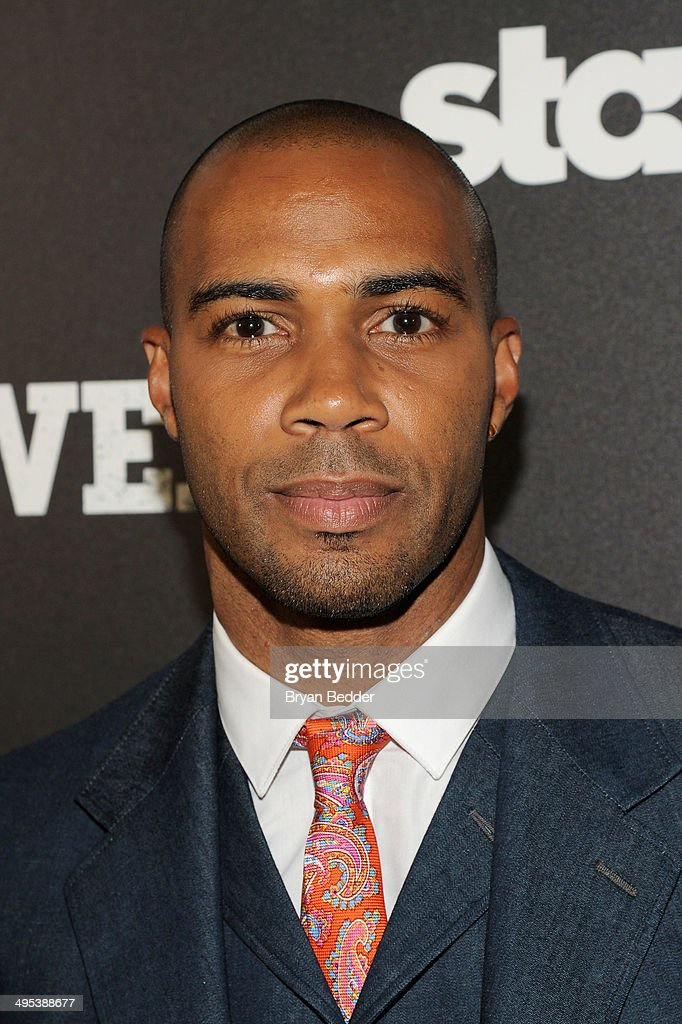 Actor Omari Hardwick attends the Starz 'Power' premiere after party at Highline Ballroom on June 2 2014 in New York City