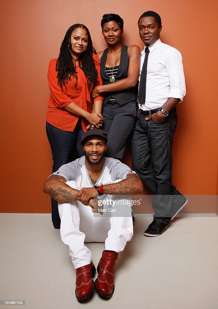 Actor <a gi-track='captionPersonalityLinkClicked' href=/galleries/search?phrase=Omari+Hardwick&family=editorial&specificpeople=4342711 ng-click='$event.stopPropagation()'>Omari Hardwick</a>, director/producer/writer Ava DuVernay, actress Emayatzy Corinealdi and actor <a gi-track='captionPersonalityLinkClicked' href=/galleries/search?phrase=David+Oyelowo&family=editorial&specificpeople=633075 ng-click='$event.stopPropagation()'>David Oyelowo</a> of 'Middle of Nowhere' pose at the Guess Portrait Studio during 2012 Toronto International Film Festival on September 12, 2012 in Toronto, Canada.