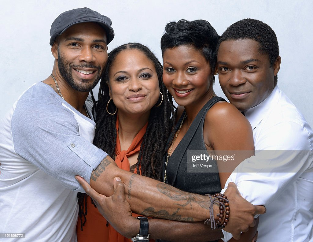 Actor <a gi-track='captionPersonalityLinkClicked' href=/galleries/search?phrase=Omari+Hardwick&family=editorial&specificpeople=4342711 ng-click='$event.stopPropagation()'>Omari Hardwick</a>, director/producer/writer Ava DuVernay, actress Emayatzy Corinealdi and actor <a gi-track='captionPersonalityLinkClicked' href=/galleries/search?phrase=David+Oyelowo&family=editorial&specificpeople=633075 ng-click='$event.stopPropagation()'>David Oyelowo</a> of 'Middle of Nowhere' poses at the Guess Portrait Studio during 2012 Toronto International Film Festival on September 12, 2012 in Toronto, Canada.
