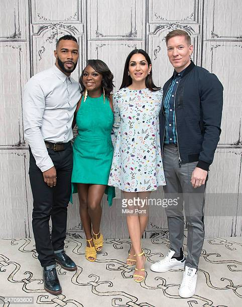 Actor Omari Hardwick Naturi Naughton Lela Loren and Joseph Sikora attend the AOL Build Speaker Series to discuss 'Power' at AOL HQ on July 13 2016 in...