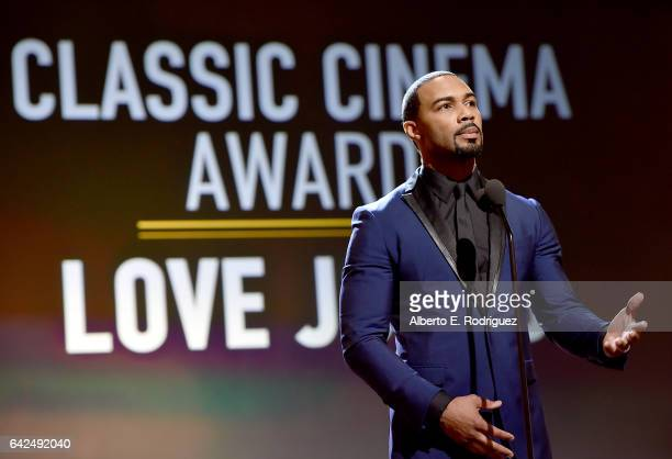 Actor Omari Hardwick speaks onstage during BET Presents the American Black Film Festival Honors on February 17 2017 in Beverly Hills California