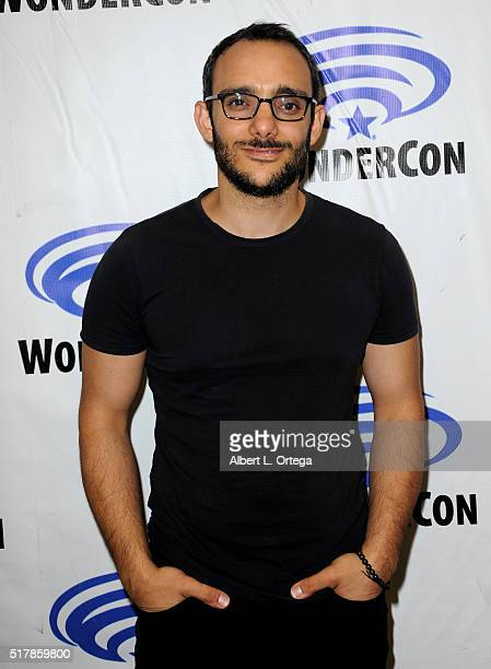 Actor Omid Abtahi promotes AE's 'Damien' on Day 1 of WonderCon 2016 held at Los Angeles Convention Center on March 25 2016 in Los Angeles California