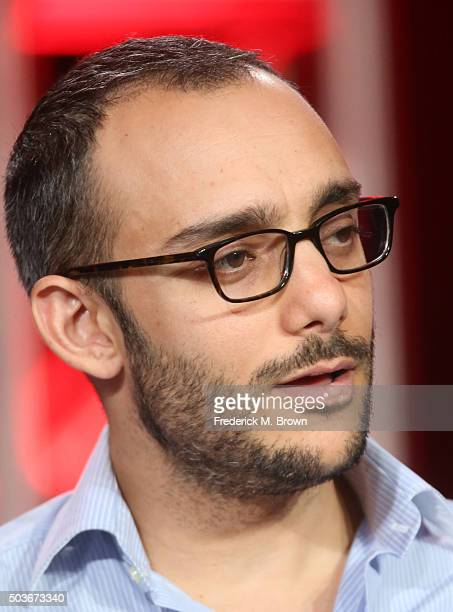 Actor Omid Abtahi speaks onstage during the Damien panel as part of the AE Network portion of This is Cable 2016 Television Critics Association Press...
