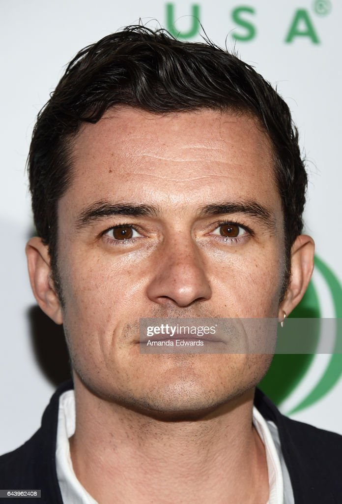 Actor Orlando Bloom arrives at the 14th Annual Global Green Pre-Oscar Gala at TAO Hollywood on February 22, 2017 in Los Angeles, California.