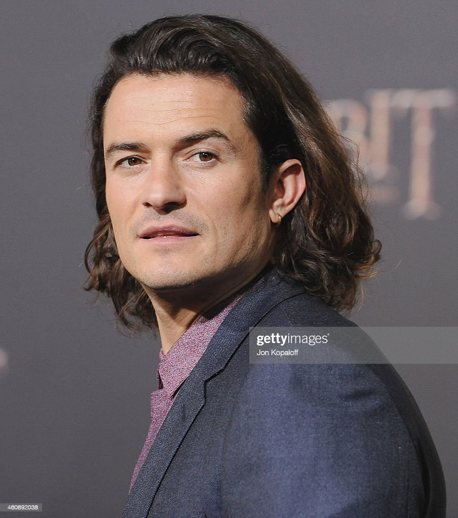 Actor Orlando Bloom arrives at the Los Angeles Premiere 'The Hobbit The Battle Of The Five Armies' at Dolby Theatre on December 9 2014 in Hollywood...