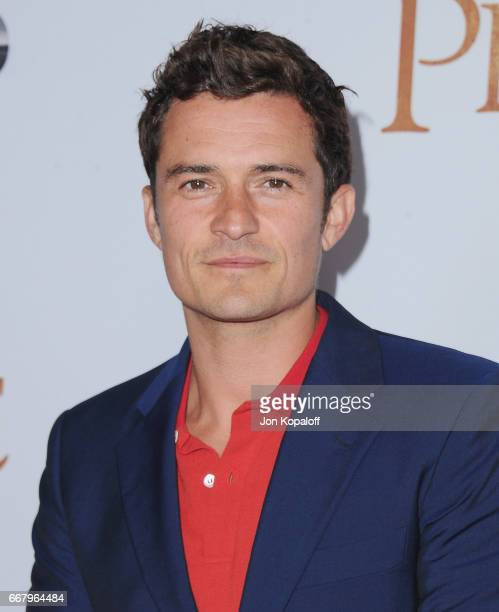 Actor Orlando Bloom arrives at the Los Angeles Premiere 'The Promise' at TCL Chinese Theatre on April 12 2017 in Hollywood California