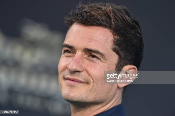 Actor Orlando Bloom arrives at the premiere of Disney's 'Pirates of the Caribbean Dead Men Tell No Tales' at Dolby Theatre on May 18 2017 in...
