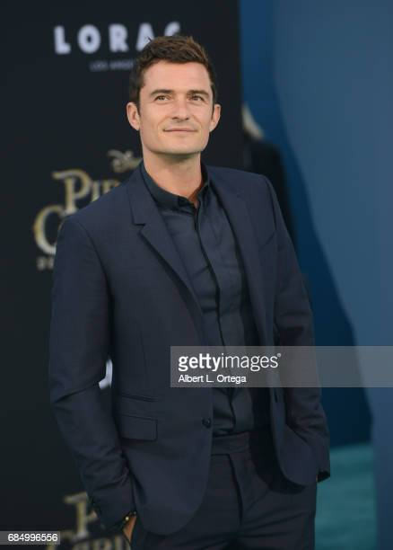 Actor Orlando Bloom arrives for Premiere Of Disney's 'Pirates Of The Caribbean Dead Men Tell No Tales' held at Dolby Theatre on May 18 2017 in...
