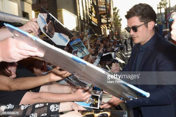 "Actor Orlando Bloom at the Premiere of Disney's and Jerry Bruckheimer Films' ""Pirates of the Caribbean Dead Men Tell No Tales"" at the Dolby Theatre..."