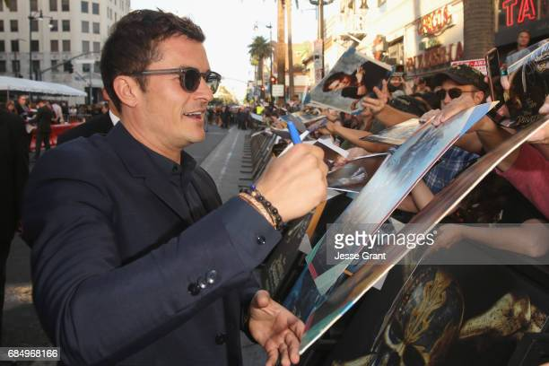 """Actor Orlando Bloom at the Premiere of Disney's and Jerry Bruckheimer Films' """"Pirates of the Caribbean Dead Men Tell No Tales"""" at the Dolby Theatre..."""