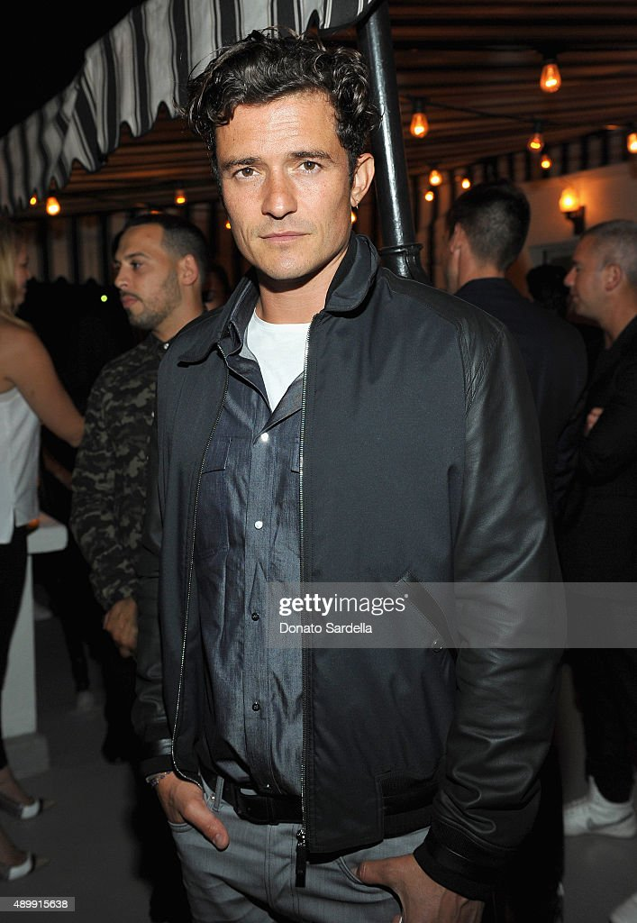Actor Orlando Bloom attends a cocktail event hosted by Dior Homme's Kris Van Assche at Chateau Marmont on September 24, 2015 in Los Angeles, California.