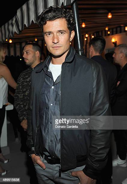 Actor Orlando Bloom attends a cocktail event hosted by Dior Homme's Kris Van Assche at Chateau Marmont on September 24 2015 in Los Angeles California