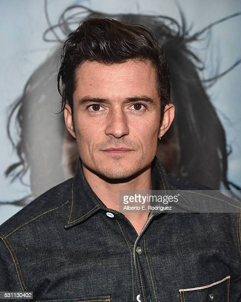 Actor Orlando Bloom attends a VIP screening of Broad Green Pictures' 'Last Days In The Desert' on May 12 2016 in Los Angeles California