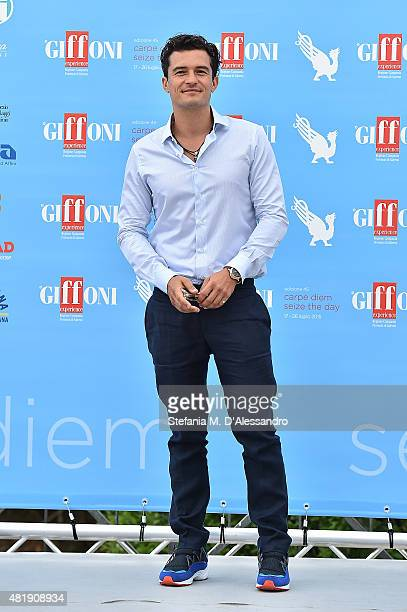 Actor Orlando Bloom attends Giffoni Film Festival 2015 Day 9 photocall on July 25 2015 in Giffoni Valle Piana Italy