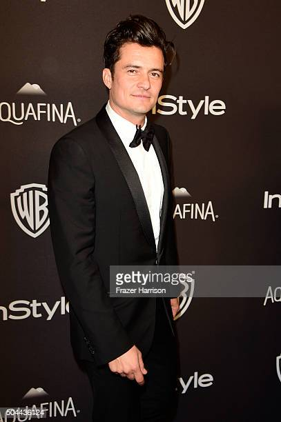Actor Orlando Bloom attends InStyle and Warner Bros 73rd Annual Golden Globe Awards PostParty at The Beverly Hilton Hotel on January 10 2016 in...