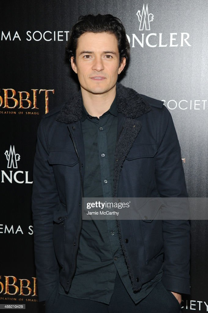 Actor <a gi-track='captionPersonalityLinkClicked' href=/galleries/search?phrase=Orlando+Bloom&family=editorial&specificpeople=202520 ng-click='$event.stopPropagation()'>Orlando Bloom</a> attends New Line Cinema and MGM Pictures' screening of 'The Hobbit: The Desolation of Smaug' hosted by the Cinema Society and Moncler on December 11, 2013 in New York City.