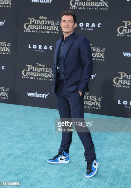 Actor Orlando Bloom attends premiere of Disney's 'Pirates Of The Caribbean Dead Men Tell No Tales' at Dolby Theatre on May 18 2017 in Hollywood...