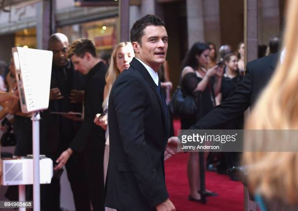 Actor Orlando Bloom attends the 2017 Tony Awards at Radio City Music Hall on June 11 2017 in New York City