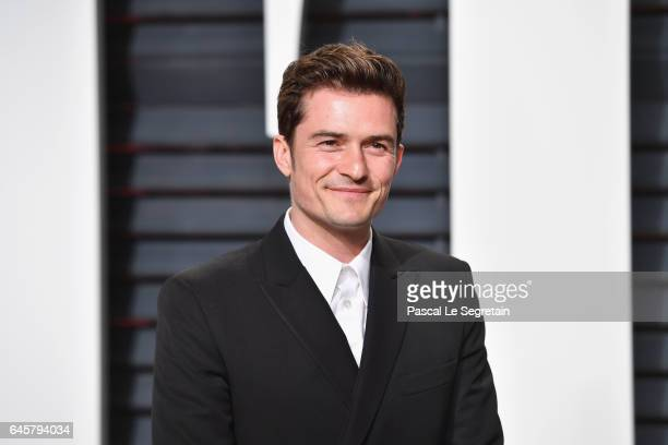 Actor Orlando Bloom attends the 2017 Vanity Fair Oscar Party hosted by Graydon Carter at Wallis Annenberg Center for the Performing Arts on February...