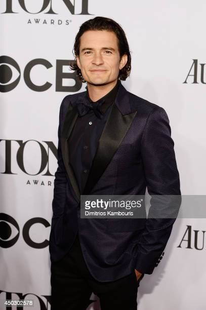 Actor Orlando Bloom attends the 68th Annual Tony Awards at Radio City Music Hall on June 8 2014 in New York City