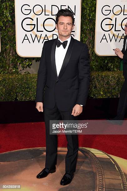 Actor Orlando Bloom attends the 73rd Annual Golden Globe Awards held at the Beverly Hilton Hotel on January 10 2016 in Beverly Hills California