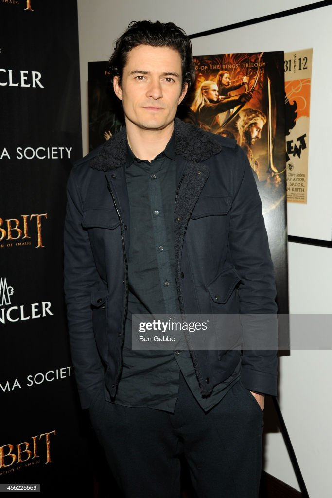 Actor <a gi-track='captionPersonalityLinkClicked' href=/galleries/search?phrase=Orlando+Bloom&family=editorial&specificpeople=202520 ng-click='$event.stopPropagation()'>Orlando Bloom</a> attends The Cinema Society & Moncler host a screening of New Line Cinema & MGM Pictures' 'The Hobbit: The Desolation of Smaug' at Time Warner Screening Room on December 11, 2013 in New York City.