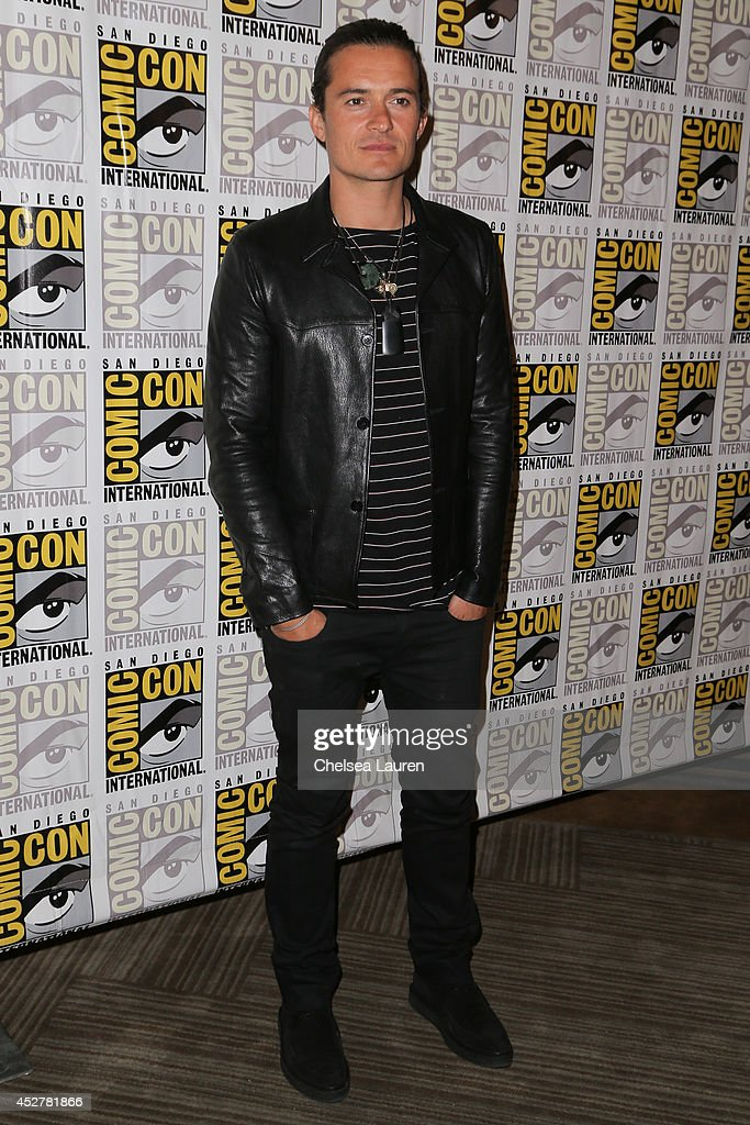 Actor <a gi-track='captionPersonalityLinkClicked' href=/galleries/search?phrase=Orlando+Bloom&family=editorial&specificpeople=202520 ng-click='$event.stopPropagation()'>Orlando Bloom</a> attends 'The hobbit' press room on July 26, 2014 in San Diego, California.