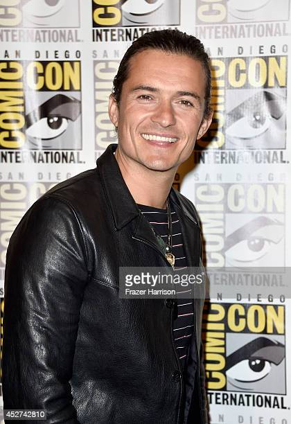 Actor Orlando Bloom attends 'The Hobbit The Battle Of The Five Armies' Press Line during ComicCon International 2014 at Hilton Bayfront on July 26...
