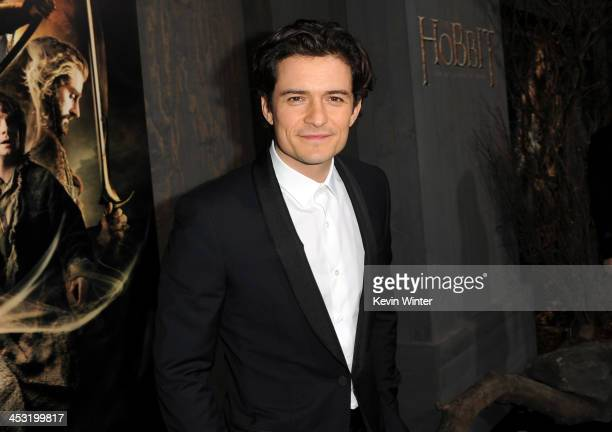 Actor Orlando Bloom attends the premiere of Warner Bros' 'The Hobbit The Desolation of Smaug' at TCL Chinese Theatre on December 2 2013 in Hollywood...
