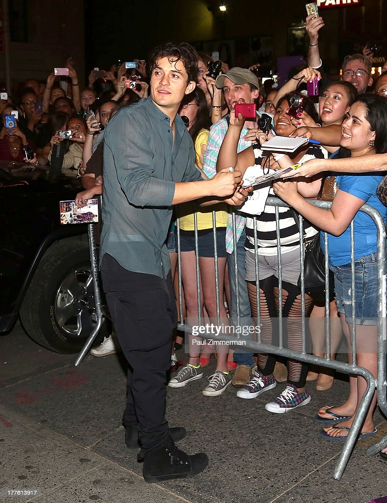 Actor <a gi-track='captionPersonalityLinkClicked' href=/galleries/search?phrase=Orlando+Bloom&family=editorial&specificpeople=202520 ng-click='$event.stopPropagation()'>Orlando Bloom</a> attends the 'Romeo And Juliet' On Broadway First Performance at the Richard Rodgers Theatre on August 24, 2013 in New York City.