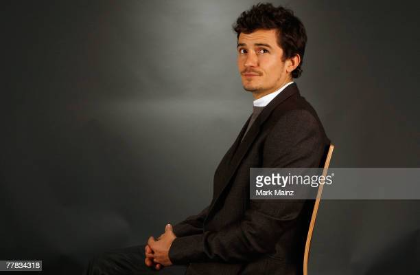 Actor Orlando Bloom poses in the portrait studio during AFI FEST 2007 presented by Audi held at ArcLight Cinemas on November 9 2007 in Hollywood...
