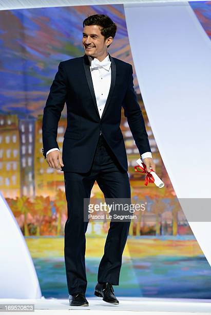 Actor Orlando Bloom presents the award for Best Performance by an Actress at the Inside Closing Ceremony during the 66th Annual Cannes Film Festival...